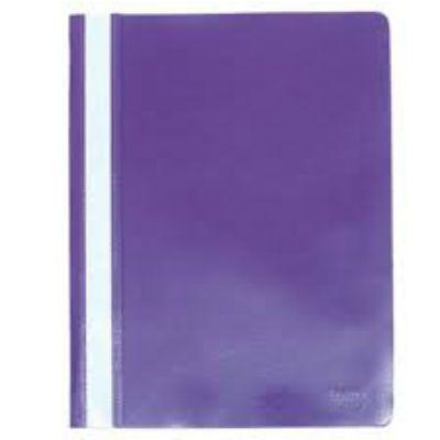 Бюрократ Папка-скоросшиватель PS20vio А4, прозрачный верхний лист фиолетовый