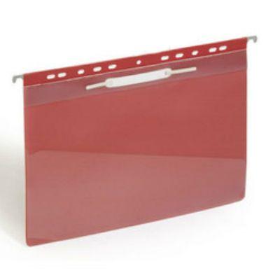 Бюрократ Папка-скоросшиватель PS20red А4, прозрачный верхний лист красный