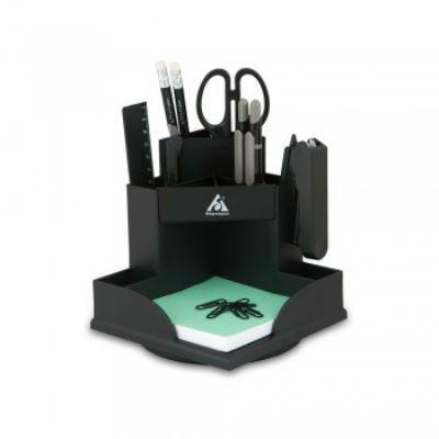 Бюрократ Настольный набор BC509 Комфорт, пластиковый, 9 предметов, черный C509