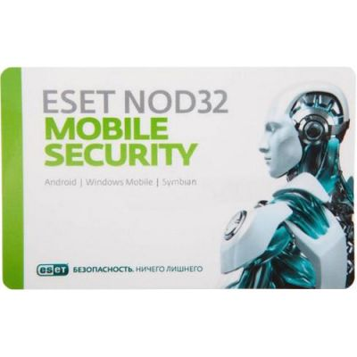Антивирус ESET NOD32 Mobile Security 3ПК/1 год (NOD32-ENM2-NS(CARD)-1-1)