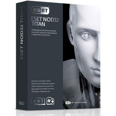 Антивирус ESET NOD32 TITAN version 2 – 1год/3ПК и 1 мобильного устройства (0+) (NOD32-EST-NS(BOX2)-1-1)