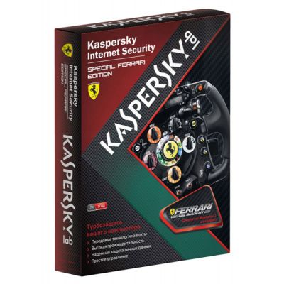 ��������� Kaspersky Internet Security Special FERRARI Rus 1-Desktop 1 year Base Box KL6815RBAFS