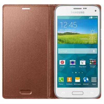 Чехол Samsung для Galaxy S 5 mini (розовое золото) EF-FG800BFEG