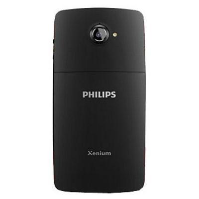 Смартфон Philips Xenium W7555 (черный с красным) CTW7555BK/00