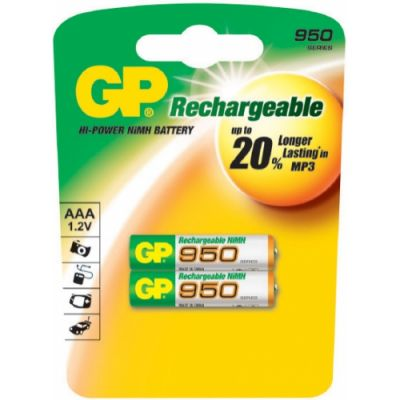 Аккумулятор GP 950mAh AAA 2шт 95AAAHC-UC2