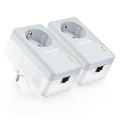 TP-Link AV500 Комплект адаптеров Powerline со встроенной электророзеткой TL-PA4010PKIT