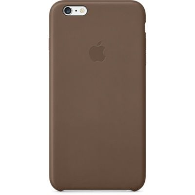 Чехол Apple iPhone 6 Plus Leather Case - Olive Brown MGQR2ZM/A