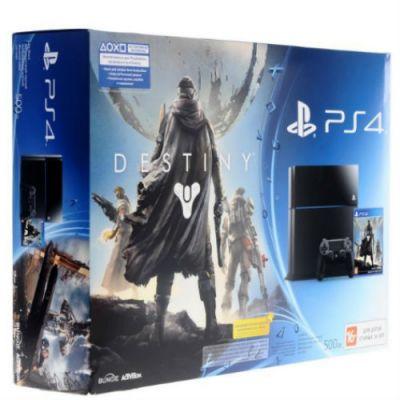Игровая приставка Sony PlayStation4 500GB CUH-1108A/B01 черная + игра Destiny и набор аксессуаров CUH-1108A/B01