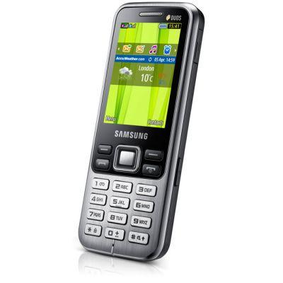 Телефон Samsung GT-C3322 Midnight Black GT-C3322MKISER