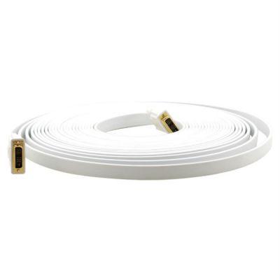 Кабель Kramer C-DM/DM/FLAT(W)-6 DVI (M) to DVI (M) 1.8 м.