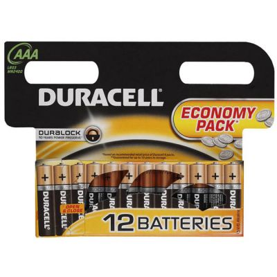 Батарейки Duracell Basic LR03-12BL AAА 12шт