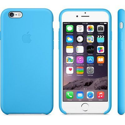 Чехол Apple iPhone 6 Plus Silicone Case - Blue MGRH2ZM/A
