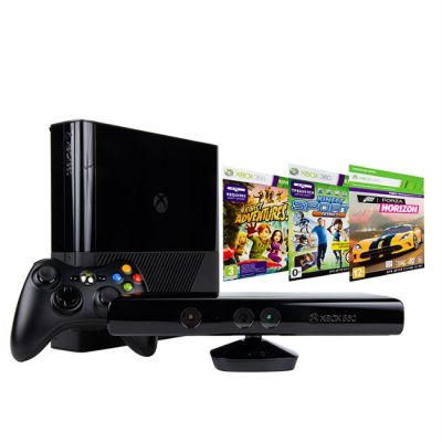 Игровая приставка Microsoft Xbox 360 500GB Kinect bundle черный + игры: Kinect Sport 1, Forza Horizon, Kinect Adventures в комплекте 3MN-00005