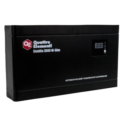 Стабилизатор напряжения Quattro Elementi Stabilia 3000 W-Slim 640-537