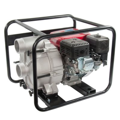 Мотопомпа DDE бензиновая грязевая PTR80 (вых 80 мм, 6.5 лc, 26 м, 1080 л/мин, 3,6 л,43 кг)