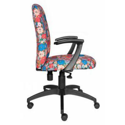 Офисное кресло Бюрократ CH-470AXSN/Flower красный