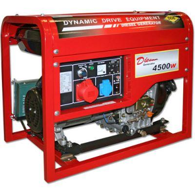 Генератор DDE дизельный DDG6000-3E трехфазн. ном/макс. 5.5/6.0 кВт (UD186, т/бак11,5л, электростарт, 98кг)