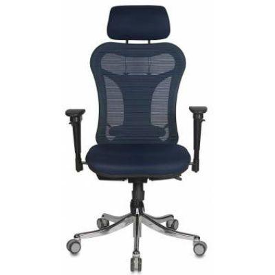 Офисное кресло Бюрократ руководителя Синий CH-999ASX/BL/TW-10N
