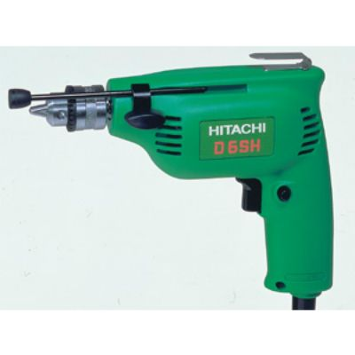Дрель Hitachi безударная D6SH (240 Ватт, патрон 6,5 мм, 4500 об/мин, 0,9 кг, коробка)