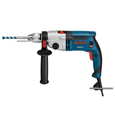 Дрель Bosch ударная GSB 21-2 RE ( 1100 Вт, ЗВП.13 мм, 2 скор, 34 нм, 2,7 кг, кейс) 060119C600