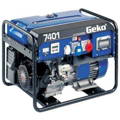 Электростанция Geko возд. охл. бензиновая открытая трехфазн/однофазн. 6,58/5,5 кВа 7401 ED-AA/HHBA 986551(Honda, т/бак 20 л, ручн/cт, 107 кг)