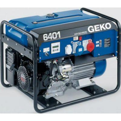 Электростанция Geko возд. охл. бензиновая открытая однофазн, 6.4 кBт 7401E-AA/HEBA+BLC 986550-A (Honda, т/бак 20 л, электростарт, 117 кг)