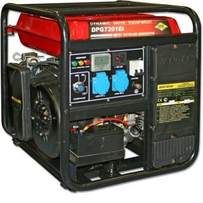 Генератор DDE бензиновый инверторного типа DPG7201Ei-A однофазн.ном/макс. 7.2/8кВт + блок ATS (т/бак19 л, электростарт, 57 кг)
