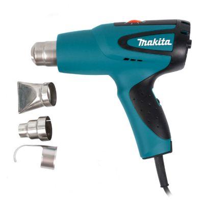 Строительный фен Makita HG551VK 1800 Вт, 100-550*C, 250/500 л/мин, 0,63 кг, комплект насадок, кейс)