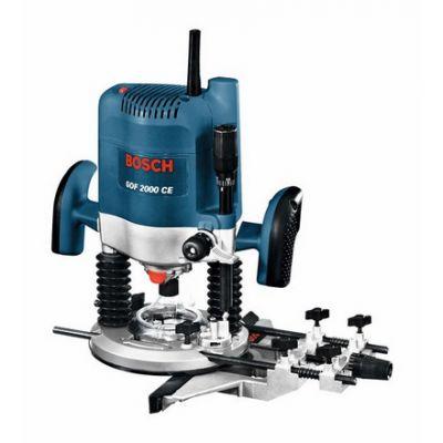 Фрезерная машина Bosch GOF 2000 CE 0601619708 (2000 Вт, цанга 8-12,7 мм, 8000-21000 об/м, раб.ход 65 мм, 6 кг, коробка)