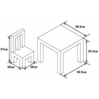 Бюрократ набор детский - стол + 2 стула (красный) KidSet-01/Cars