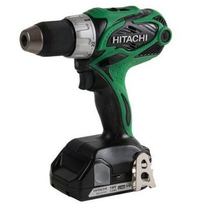 Дрель Hitachi аккумуляторная DS18DSALRL(TL) (18 В, БЗП.13 мм, 2 скор, 45 нм, 1,5 кг, 2 акк, Li-ion. 3 Ач, кейс)