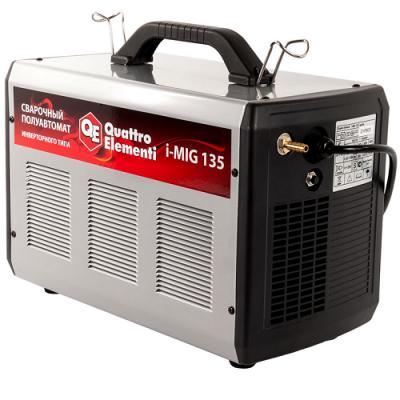 Аппарат Quattro Elementi полуавтоматической сварки, инвертор QE i-MIG 135 (120 А, ПВ 30%, проволока 0,6-0,8 мм, 10 кг, 220 В) 770-049