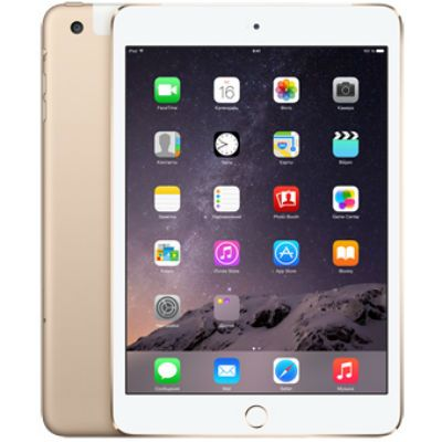 Планшет Apple iPad mini 3 64Gb Wi-Fi + Cellular (Gold) MGYN2RU/A