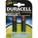 Батарейки Duracell аккумулятор HR6-2BL 2400mAh 2шт