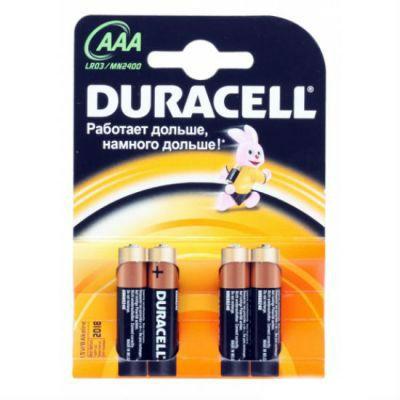 Батарейки Duracell Basic LR03-4BL AAA