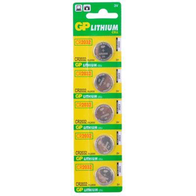 Батарейки GP CR2032-BC5 5шт (для биоса мат. плат)