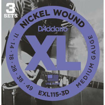 Струны D'Addario EXL115/3D