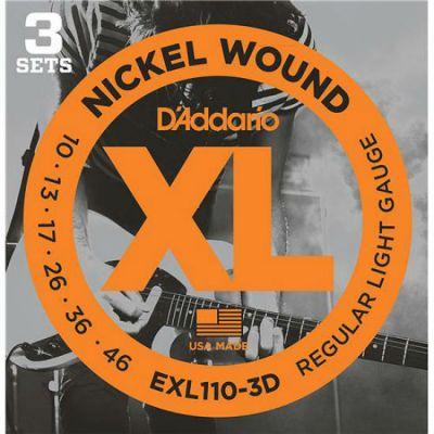Струны D'Addario EXL110/3D