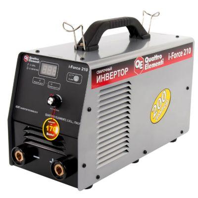 Аппарат Quattro Elementi инвертор i-FORCE 210 771-602 (200A, ПВ 100%, до 5 мм, Дисплей, TIG-Lift, работа от 170В) ПРОФИ