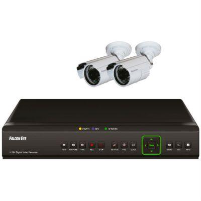 Комплект видеонаблюдения Falcon Eye 4 канальный + 2 камеры FE-104D KIT Light