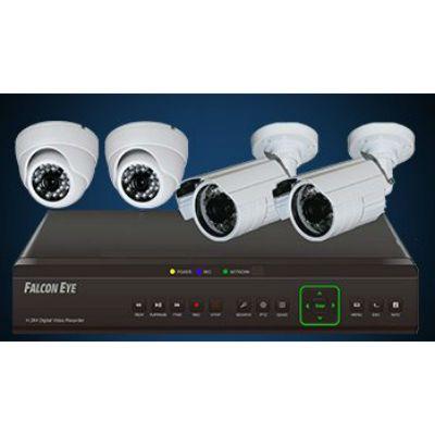 �������� ��������������� Falcon Eye 4-�� ��� DVR + 4-� ������ + �������. �����. FE-104D-KIT ����