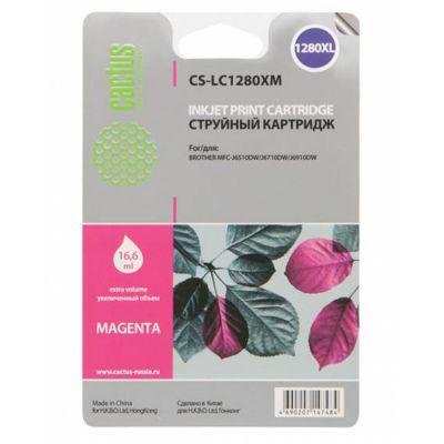 ��������� �������� Cactus �������� ��� Brother MFC-J6510/ 6910DW magenta 16.6 �� CS-LC1280XM