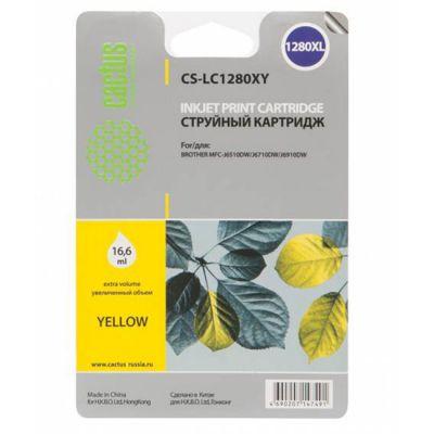 Расходный материал Cactus Картридж для Brother MFC-J6510/ 6910DW yellow 16.6 мл CS-LC1280XY