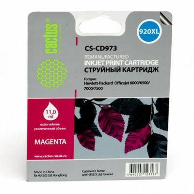 Расходный материал Cactus Картридж №920XL (пурпурный) для HP Officejet 6000/6500/7000/7 500 11мл CS-CD973