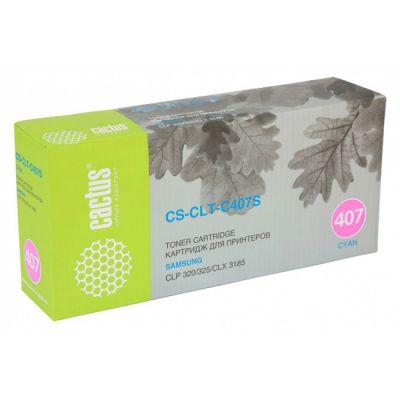 Расходный материал Cactus Картридж для принтеров SAMSUNG CLP-325/CLX-3185, cyan CS-CLT-C407S