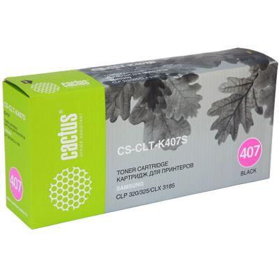Расходный материал Cactus Картридж для принтеров SAMSUNG CLP-325/CLX-3185, black CS-CLT-K407S