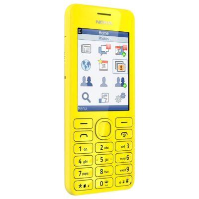 Телефон Nokia Asha 206 Dual Sim Yellow