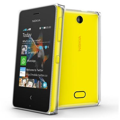 Смартфон Nokia Asha 500 Dual Sim Yellow