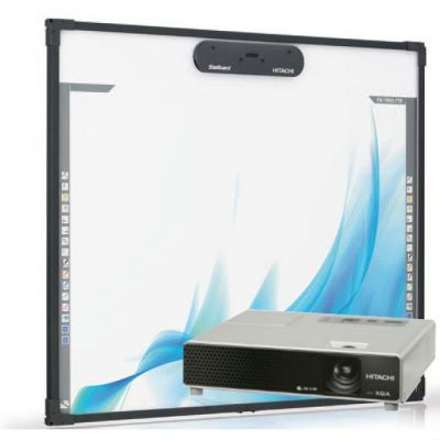 Интерактивная доска Hitachi Комплект доска FX-TRIO-77-E + проектор Hitachi CP-X1 (CP-X2)