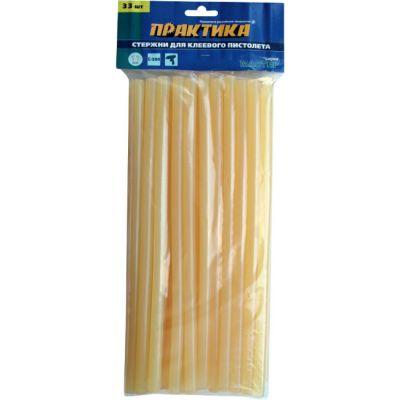 Практика Клей жёлтый, прозрачный, 11 х 300 мм, 33 шт / пакет с подвесом 641-664